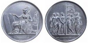 1817 μετάλλιο παραχώρηση Συντάγματος Ιονίων νήσων Αναμνηστικά Μετάλλια