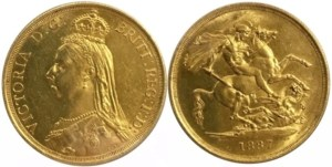 Μεγάλη Βρετανία 1887, 2λιρο , AU++ Ξένα νομίσματα