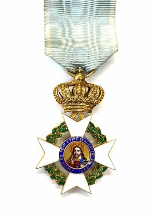 Ελλάς τάγμα του Σωτήρος χρυσός σταυρός Πομώνης , Greece order of the redeemer gold cross Pomonis Παράσημα - Στρατιωτικά μετάλλια - Τάγματα αριστείας