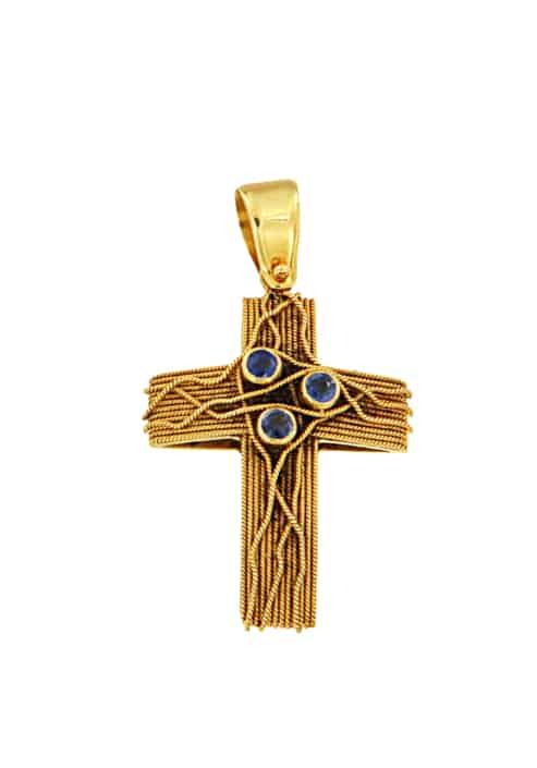 Χρυσός Σταυρός Κ18 Εκλεκτά Κοσμήματα