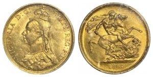 1887 Δίλιρο χρυσό , PCGS MS62 Ξένα νομίσματα