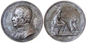 1825 επάργυρο μετάλλιο Γεώργιος Κουντουριώτης Lange Αναμνηστικά Μετάλλια