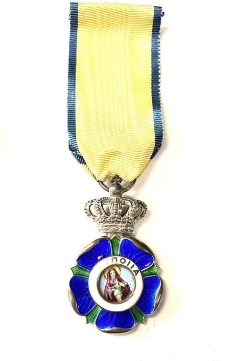 ΕΛΛΆΣ ΤΆΓΜΑ ΤΗΣ ΕΥΠΟΙΪ́ΑΣ, GREECE, KINGDOM. AN ORDER OF BENEFICENCE, SILVER CROSS Παράσημα - Στρατιωτικά μετάλλια - Τάγματα αριστείας