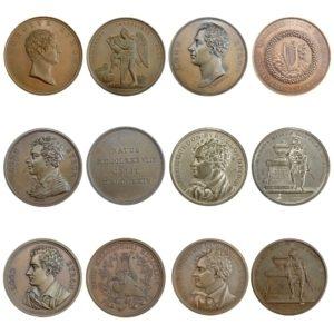 Λόρδος Βύρων , 6 αναμνηστικά Μετάλλια (1788-1824) Αναμνηστικά Μετάλλια