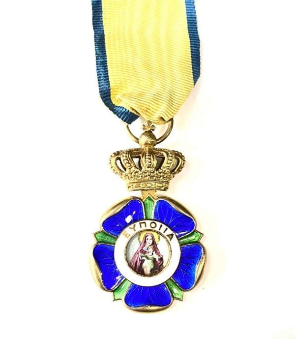 ΕΛΛΆΣ ΤΆΓΜΑ ΤΗΣ ΕΥΠΟΙΪ́ΑΣ, GREECE, KINGDOM. AN ORDER OF BENEFICENCE, GOLD CROSS Παράσημα - Στρατιωτικά μετάλλια - Τάγματα αριστείας