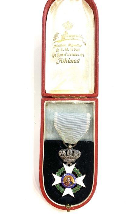 Ελλάς , τάγμα του Σωτήρος , αργυρός σταυρός Παράσημα - Στρατιωτικά μετάλλια - Τάγματα αριστείας