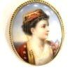 Καρφίτσα φιλελληνικής περιόδου με πορτρέτο Ελληνίδας Αντίκες & διάφορα