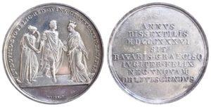 Bavaria 1836 Commemorative medal , visit of Ludwig I to Greece Αναμνηστικά Μετάλλια