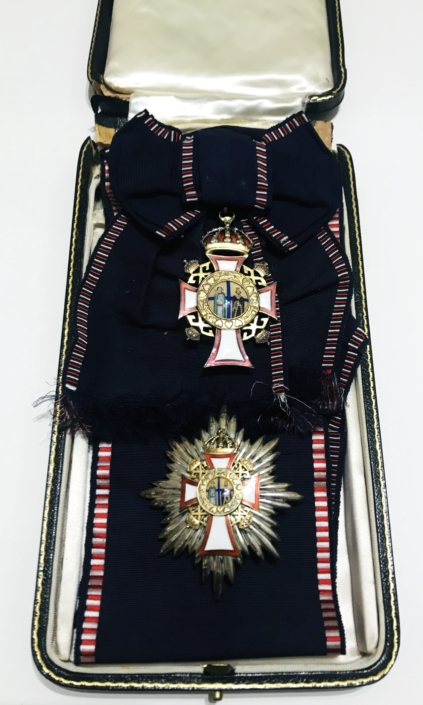 Greece , Grand Cross set of Saints George & Constantine Παράσημα - Στρατιωτικά μετάλλια - Τάγματα αριστείας