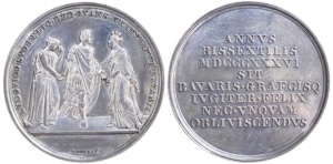 Bavaria 1836 commemorative medal for Ludwig's visit to Greece Αναμνηστικά Μετάλλια