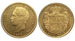Πορτογαλία 1889 , 5000 Reis , UNC Ξένα νομίσματα