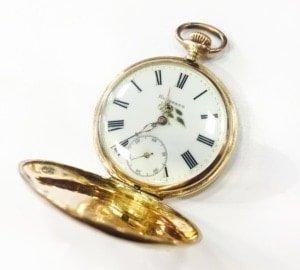 Χρυσό Κ14 ρολόι τσέπης Hesperus Remontoir 15 Αντίκες & διάφορα