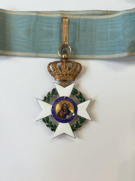 Ολόχρυσος Κ18 σταυρός ταξιαρχών του τάγματος του Σωτήρος Παράσημα - Στρατιωτικά μετάλλια - Τάγματα αριστείας