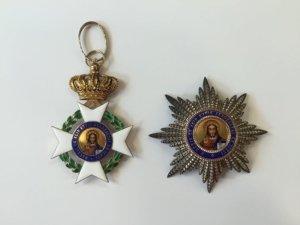 RR! Ολόχρυσο 18Κ σετ μεγαλοσταύρου του τάγματος του Σωτήρος Παράσημα - Στρατιωτικά μετάλλια - Τάγματα αριστείας