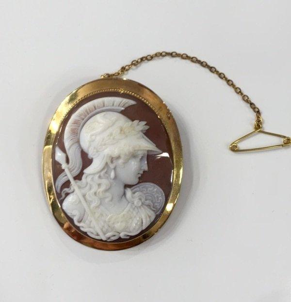 Χρυσό καμεό με τη Θεά Αθηνά Αντίκες & διάφορα