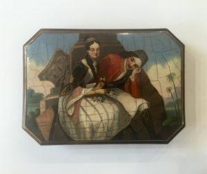 Φιλελληνικό κουτί ζωγραφισμένο στο χέρι με πανέμορφη παράσταση Αντίκες & διάφορα