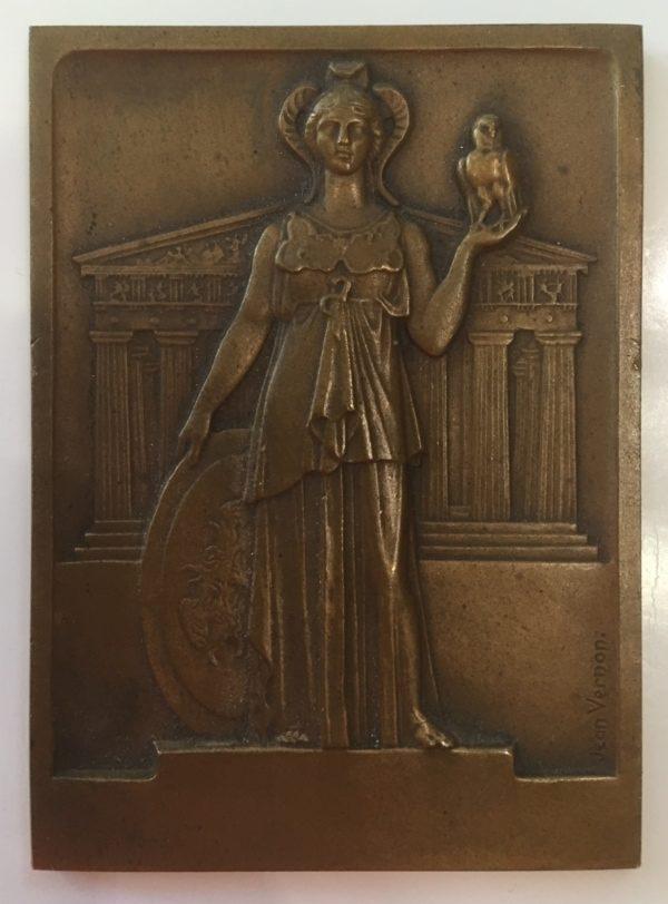 Χάλκινο αναμνηστικό μετάλλιο της Τράπεζας Αθηνών Αναμνηστικά Μετάλλια