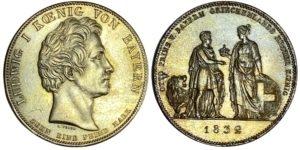 1832 Germany taler Bavaria – prince Otto Ξένα νομίσματα