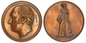 1826 Charles Canning large bronze medal Αναμνηστικά Μετάλλια