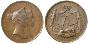 1836 Greece Otto and Amalia medal , by Lange Αναμνηστικά Μετάλλια