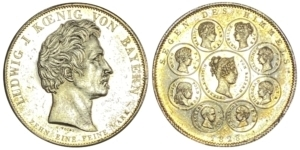 GREECE: GERMAN STATES – BAVARIA: 1828, 1 Thaler Ξένα νομίσματα