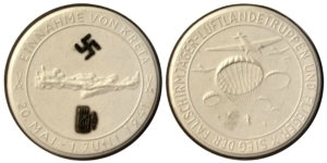 1941 Meissen Porcelain Kreta Medal Αναμνηστικά Μετάλλια