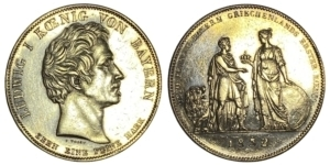 Greece 1832 Bavaria 1 Thaler Ξένα νομίσματα