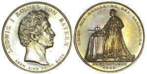 1825 , German states : Bavaria Thaler Ξένα νομίσματα