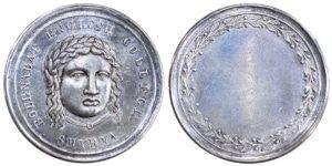 Bournabat (Bornova) silver medal Smyrna Αναμνηστικά Μετάλλια