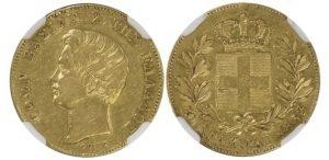 Greece 1833 20d AU53 NGC Ελληνικά Νομίσματα