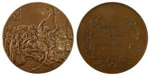 Μετάλλιο Ολοκαύτωμα Χρήστου Καψάλη Μεσολόγγι Αναμνηστικά Μετάλλια