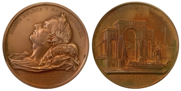France Commemorative medal for the translation of the body of Napoleon to Rouen Αναμνηστικά Μετάλλια