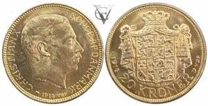 Denmark 20 kroner Christian X Ξένα νομίσματα